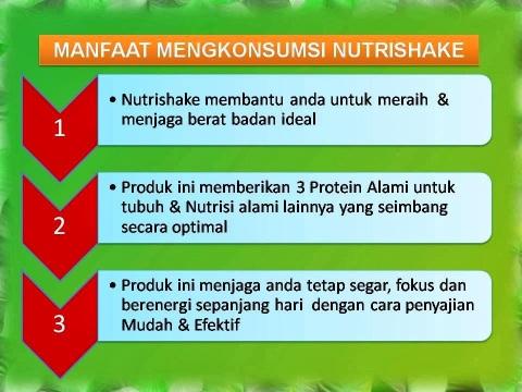 manfaat minum nutrishake