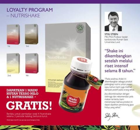 promo loyalti program nutrishake